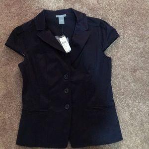 NWT Ann Taylor Button Vest